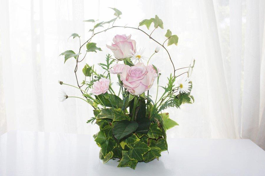生花のフラワーアレンジメントのレッスン